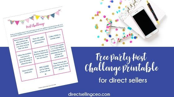 Free Party Host Challenge Checklist Direct Sales Network Marketing