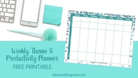 Direct Sales Weekly Theme & Productivity Planner Download