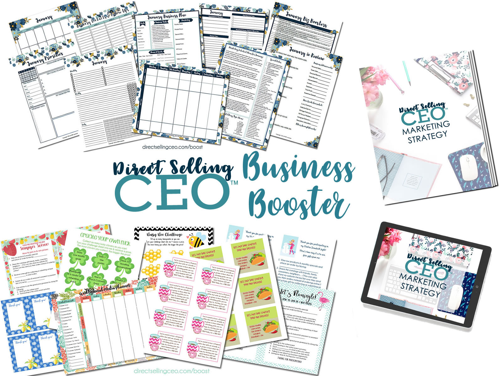 Direct Selling CEO Business Booster Marketing Training and Content Bundles