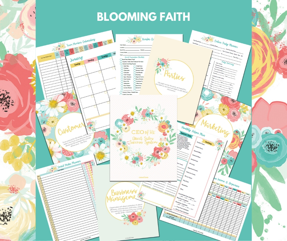 Blooming Faith Direct Sales Success System Toolkit CEO of Me