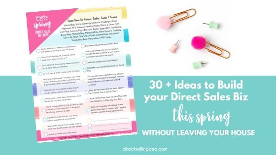 30+ Spring Online Business Building Ideas for Direct Sellers
