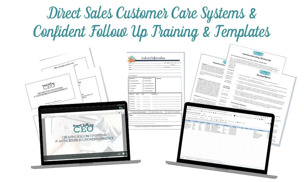 Direct Sales Customer Follow Up Training Systems and Templates