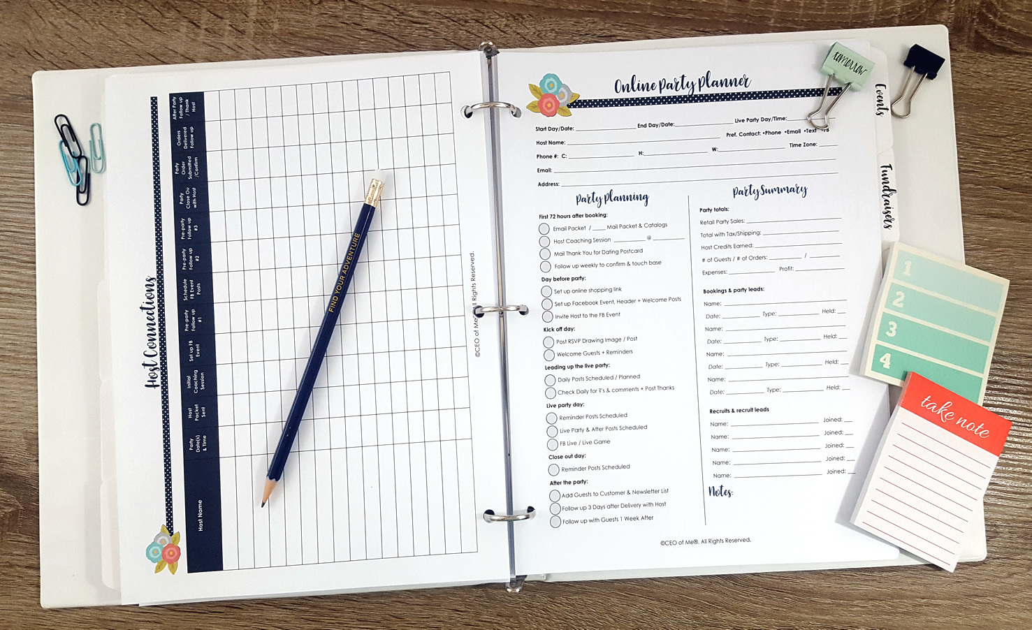 Direct Sales Printable Planner Toolkit