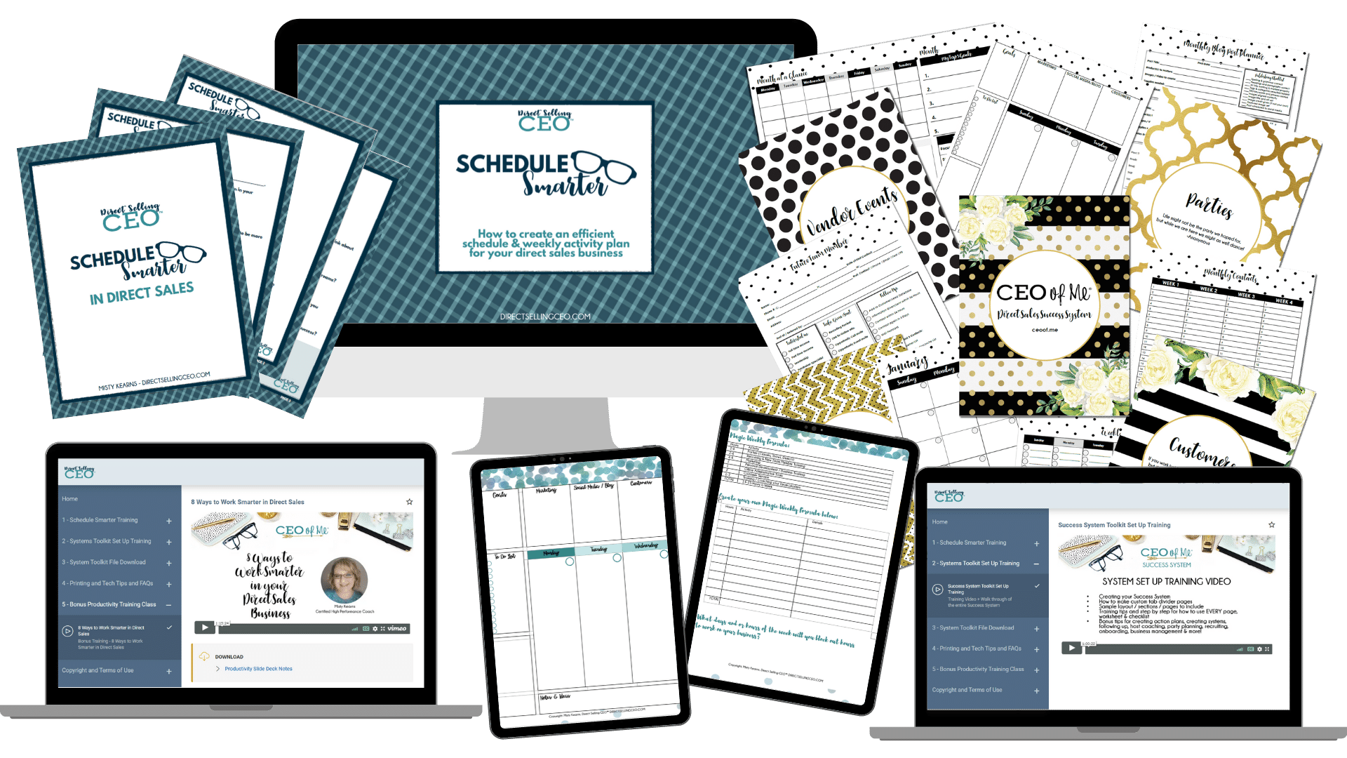 Direct Sales Schedule Smarter System Toolkit Planner