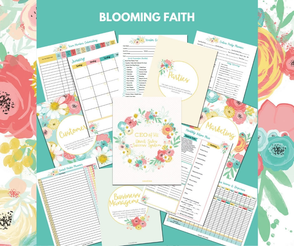 Blooming Faith Direct Sales Planner Toolkit Schedule System