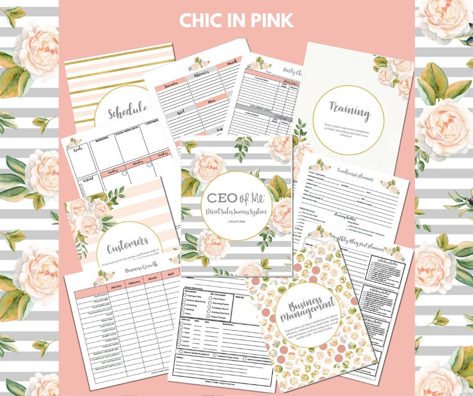 Chic in Pink Direct Sales Planner Toolkit Schedule System