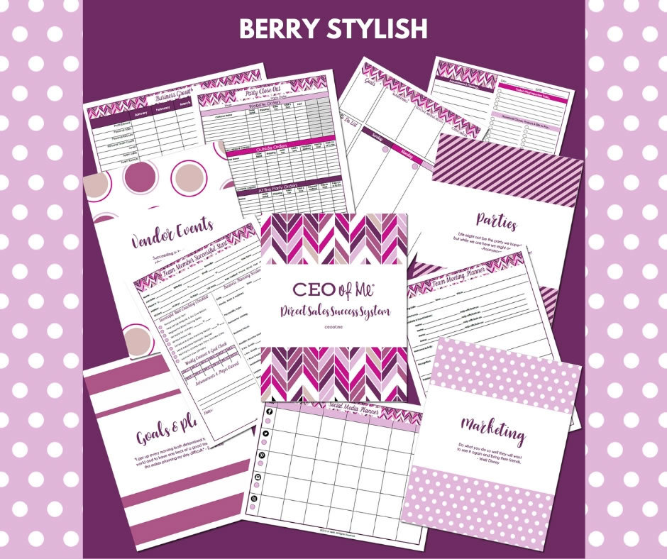 Berry Stylish Direct Sales Planner Toolkit Schedule System