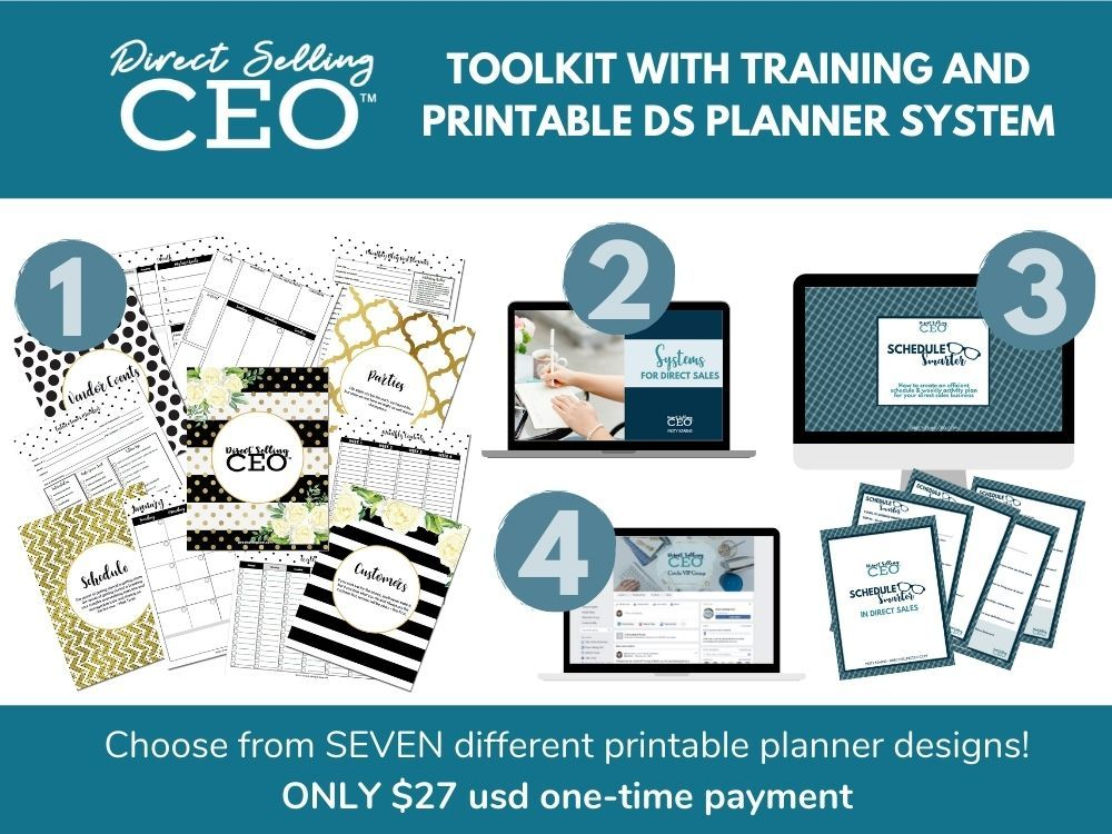 Grab the Direct Sales Printable Planner and Toolkit