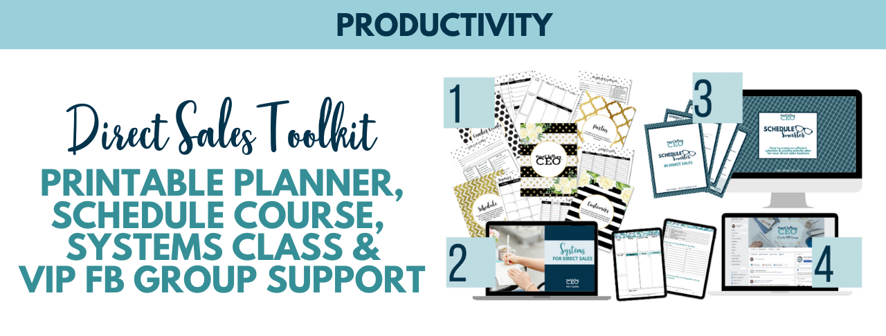 Direct Sales Toolkit and Printable Direct Sales Planner