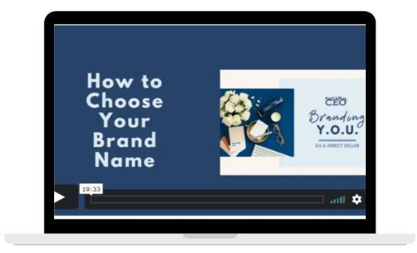 Bonus Video - How to Choose Your Brand Name