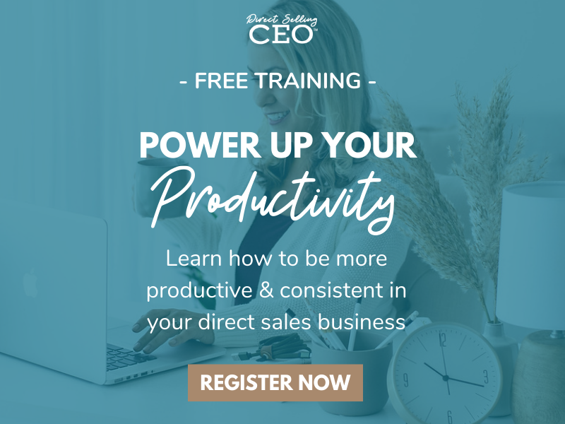 Power up your Productivity Free Workshop for Direct Sellers