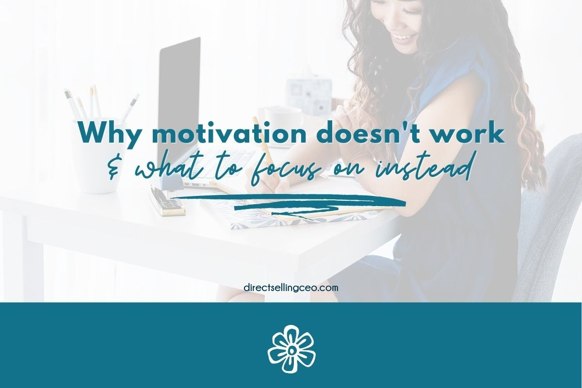 Why motivation doesn't work and what to focus on instead