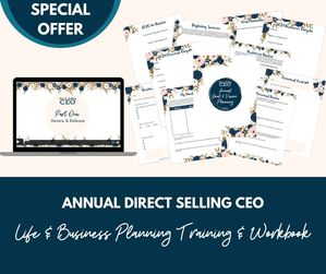 Annual Goal Planning Challenge and Workbook for Direct Sellers