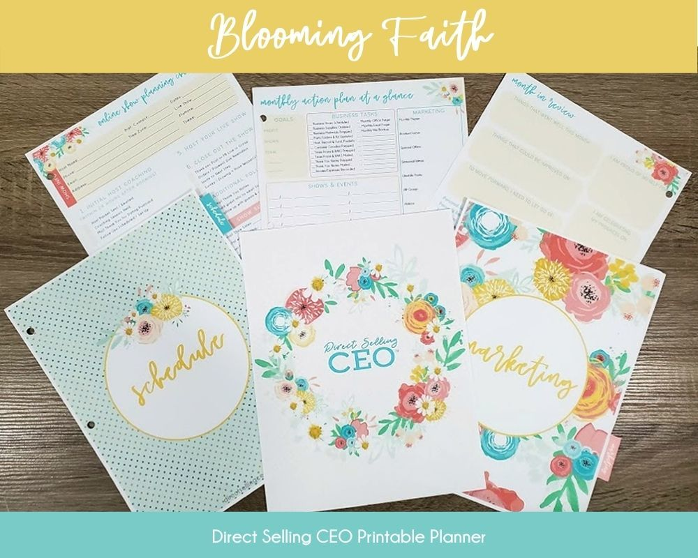 Blooming Faith Direct Selling CEO Printable Planner Preview