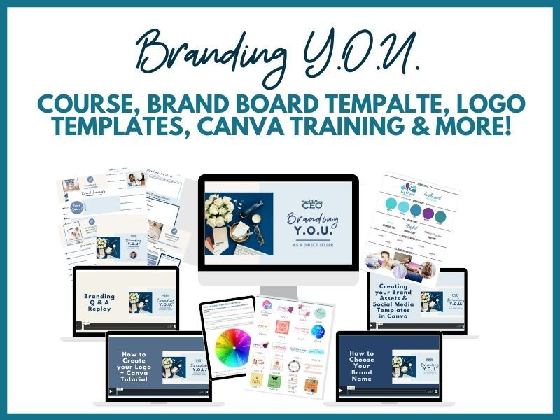 Direct Sales Branding YOU Branding and Marketing Training and Templates