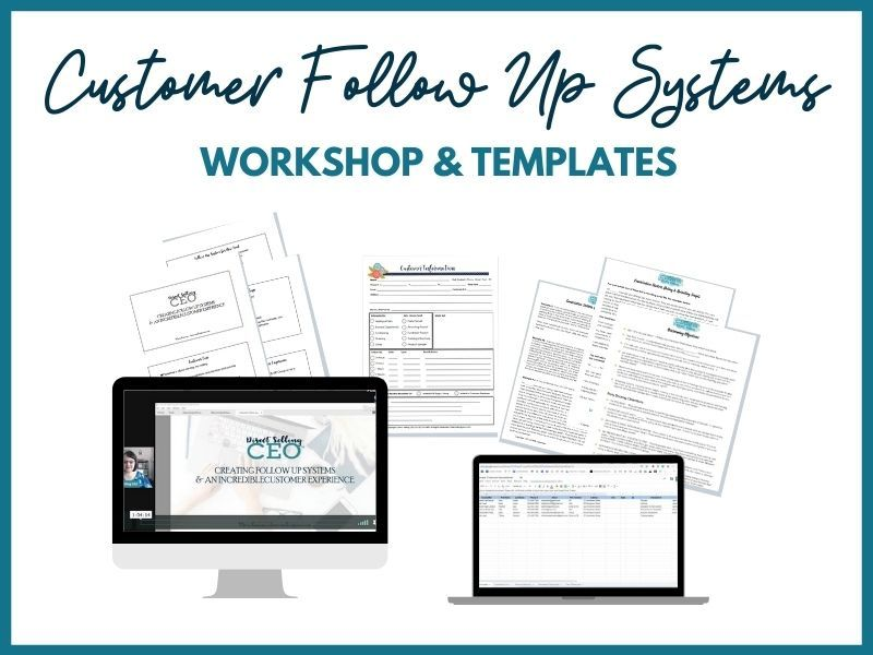 Direct Sales Customer Follow Up Training, Templates, Systems