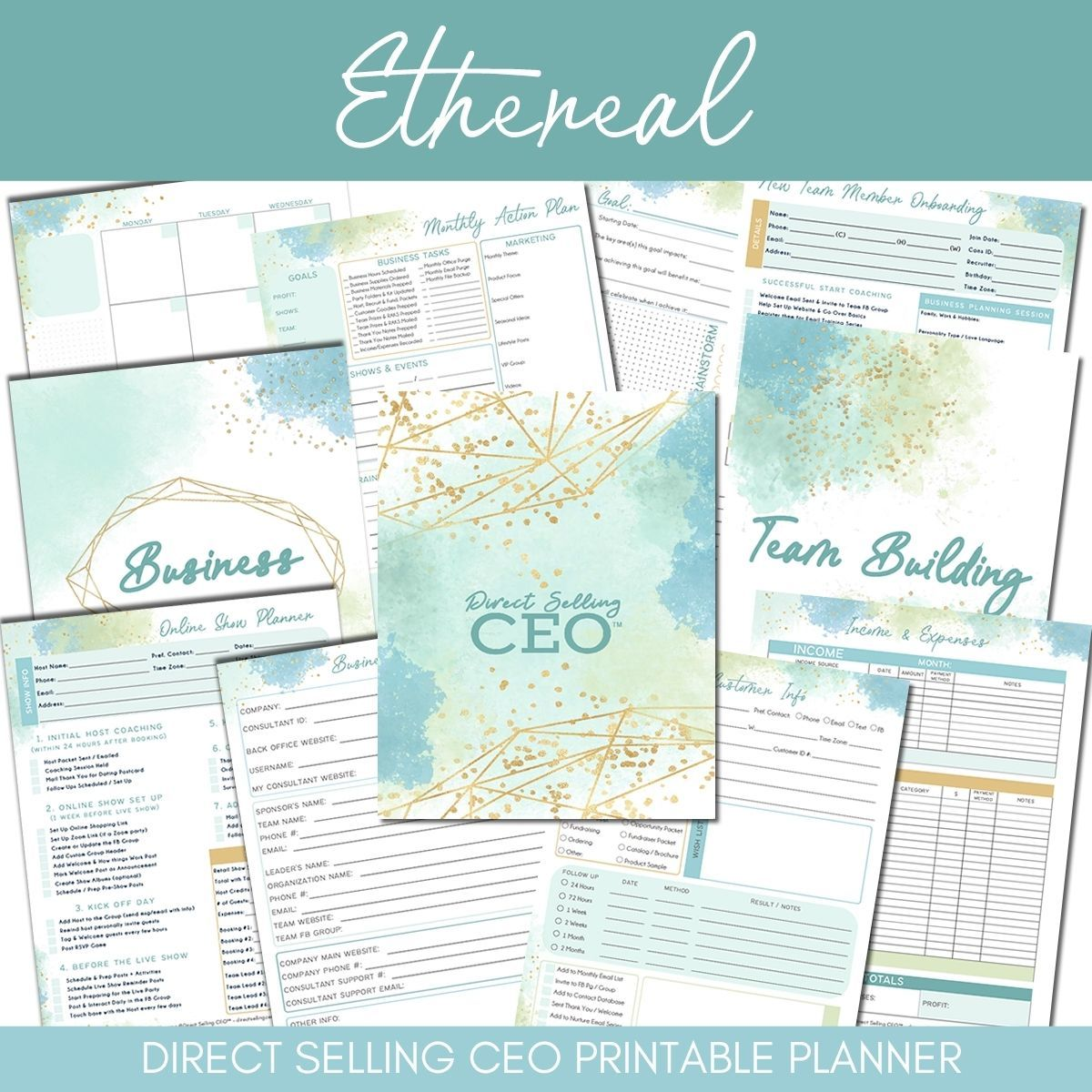 Ethereal Printable Direct Sales Planner by DSCEO
