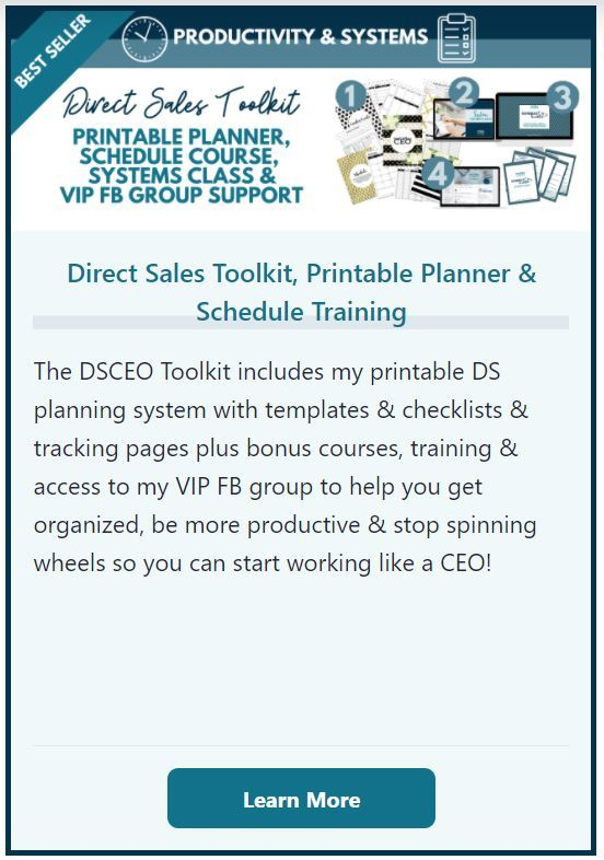 Direct Sales Toolkit and Printable Planner