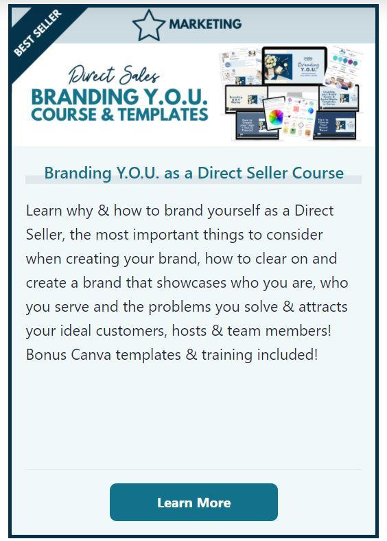 Direct Sales Branding YOU Course and Templates