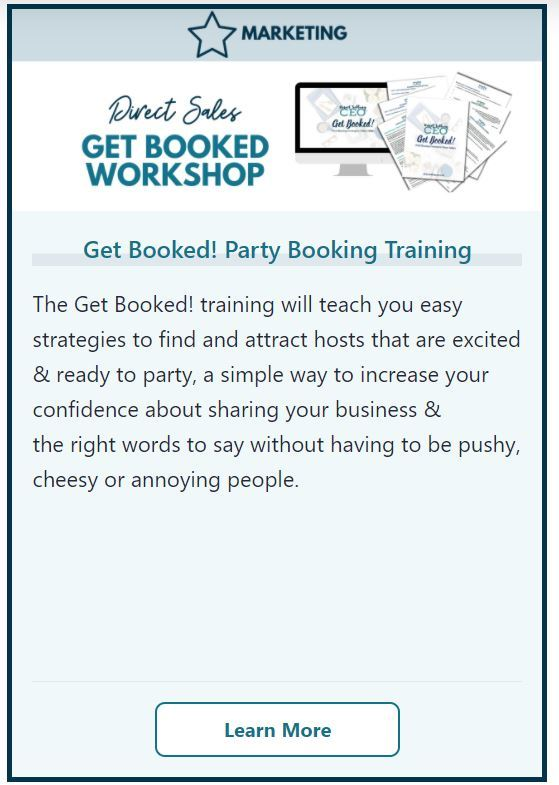 Direct Sales Get Booked Party Booking Training