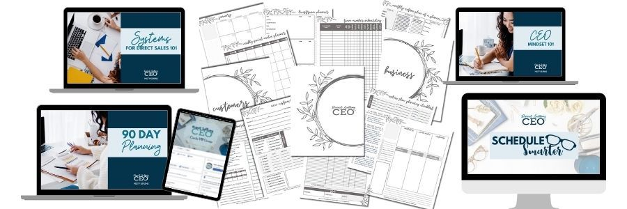 DSCEO Toolkit and Direct Sales Printable Planner and Training