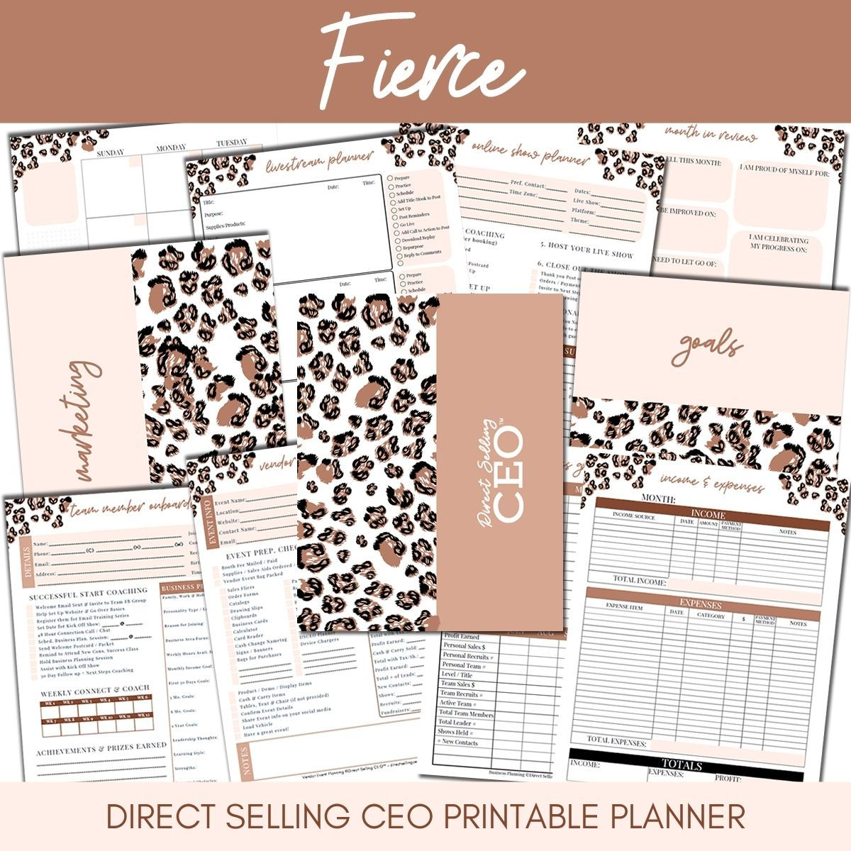 Fierce Direct Selling CEO Printable Planner